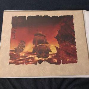 Rare Disney Pirates of the Caribbean Artwork